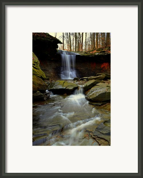 Flowing Falls Framed Print By Robert Harmon