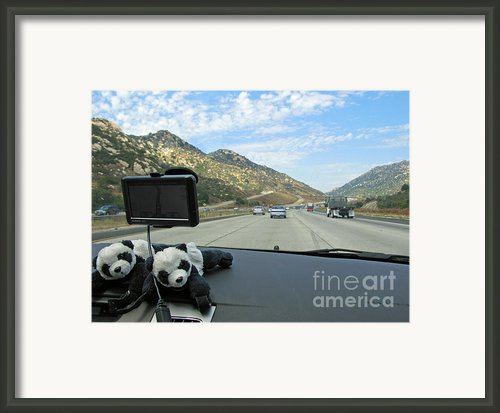Floyd And Ginny Travelling In Southern California Framed Print By Ausra Paulauskaite
