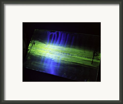 Fluorescent Dye Penetrant Test Results Framed Print By Paul Rapson