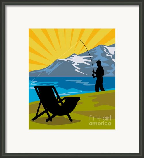 Fly Fishing Framed Print By Aloysius Patrimonio