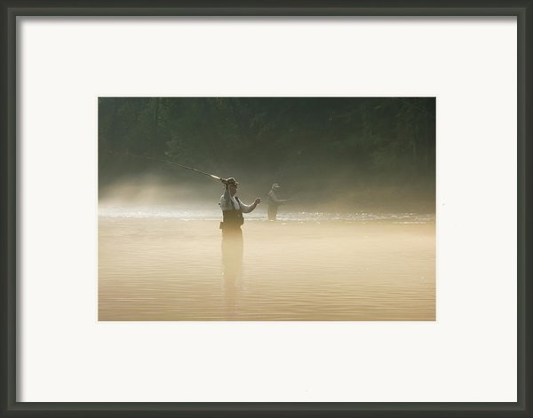 Fly Fishing  Framed Print By Betty Larue