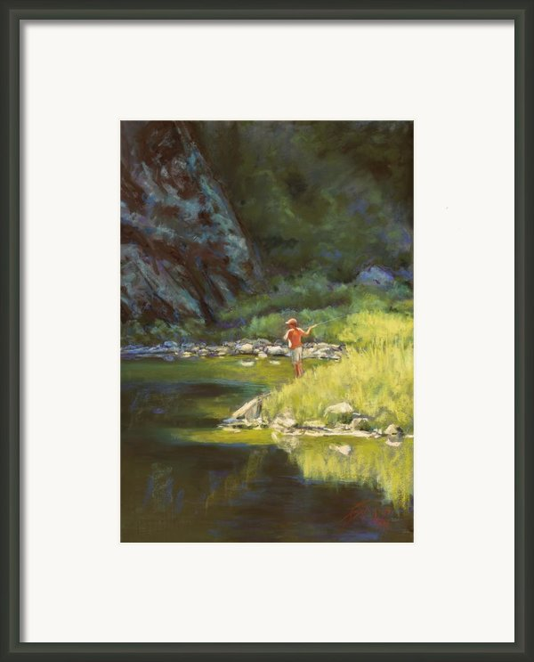 Fly Fishing Framed Print By Billie Colson