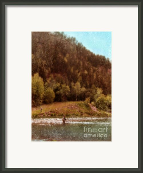 Fly Fishing Framed Print By Jill Battaglia