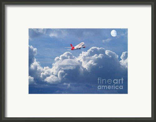 Fly Me To The Moon Framed Print By Wingsdomain Art And Photography