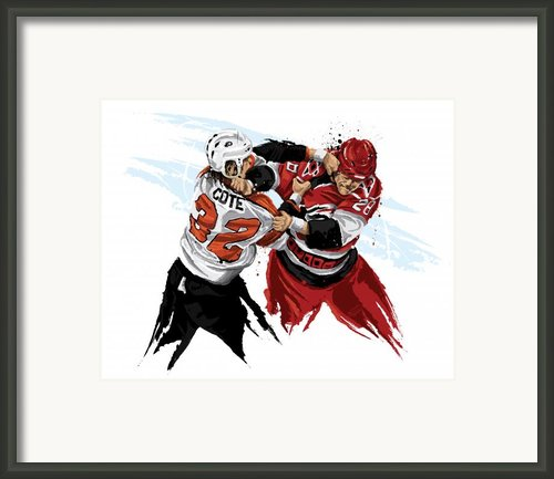 Flyers Enforcer Riley Cote Framed Print By David E Wilkinson