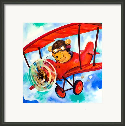 Flying Bear Framed Print By Scott Nelson