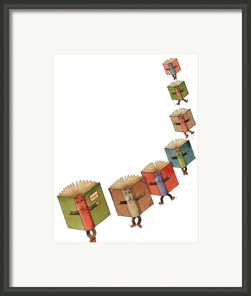 Flying Books02 Framed Print By Kestutis Kasparavicius