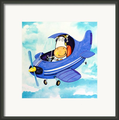 Flying Cow Framed Print By Scott Nelson