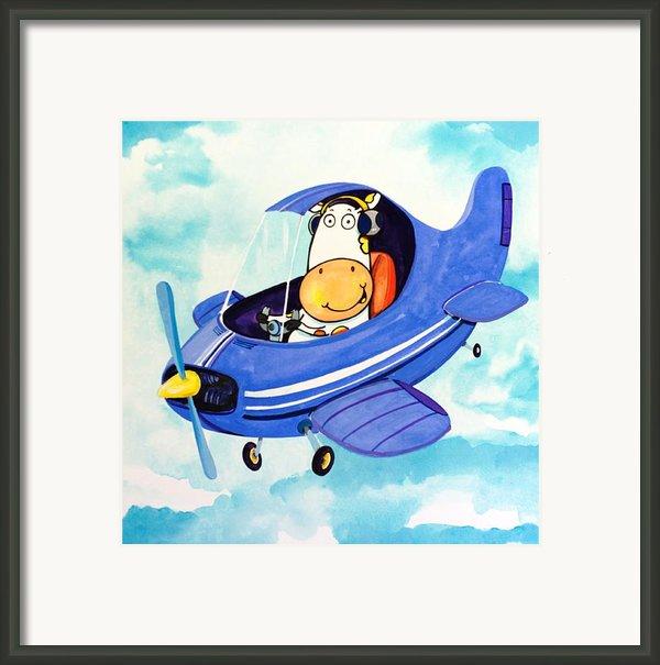 Flying Cow Framed Print By Scott Nelson
