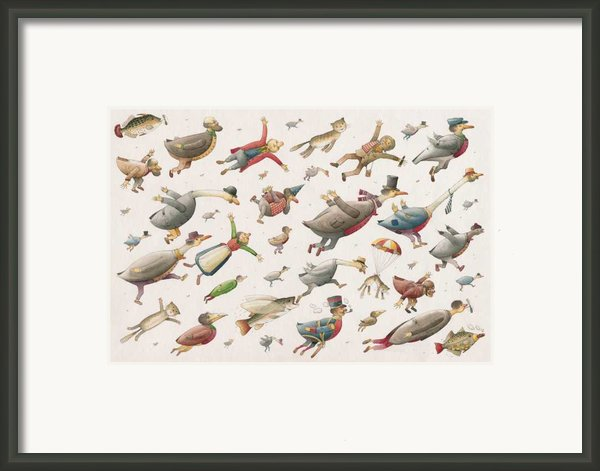 Flying Framed Print By Kestutis Kasparavicius