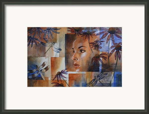 Flying Woman Framed Print By Patsy Sharpe