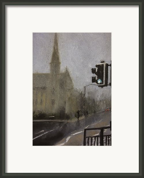 Foggy Herne Bay 1 Framed Print By Paul Mitchell