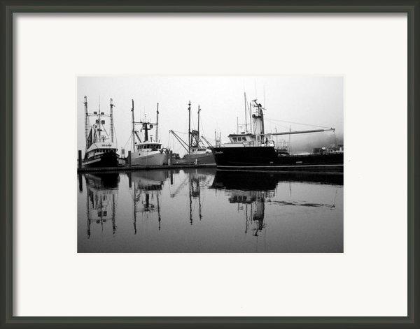 Foggy Reflections Bw Framed Print By Kami Mckeon