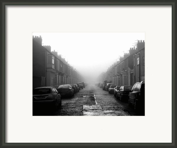 Foggy Terrace Framed Print By Paul Downing
