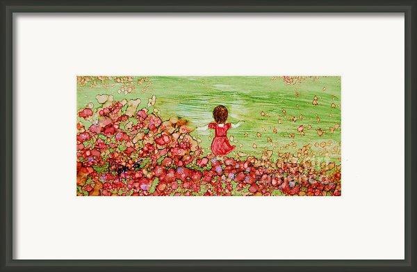 Folicking In The Meadow Framed Print By Joyce Auteri