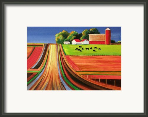 Folk Art Farm Framed Print By Toni Grote