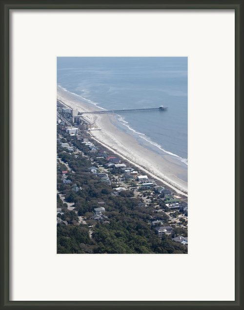 Folly Beach South Carolina Aerial Framed Print By Dustin K Ryan