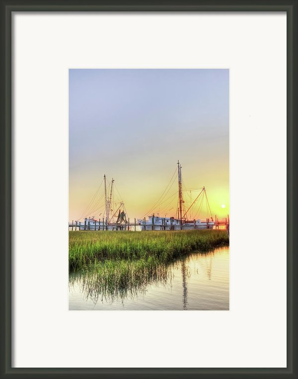 Folly Fishing Boats  Framed Print By Drew Castelhano
