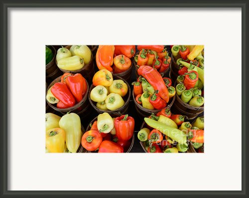 Food - Peppers Framed Print By Paul Ward