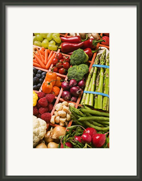 Food Compartments  Framed Print By Garry Gay