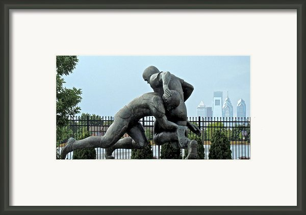 Football At Citizens Bank Park Framed Print By Alice Gipson