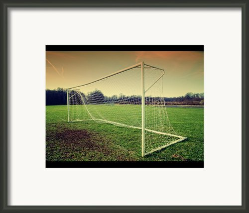Football Goal Framed Print By Federico Scotto
