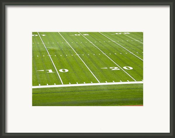 Football Stadium, Cornell University, Ithaca, New York Framed Print By Dennis Macdonald