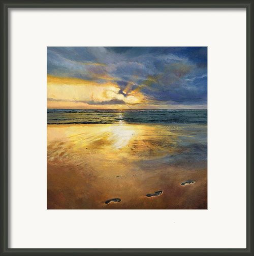 Footprints Framed Print By Helen Parsley