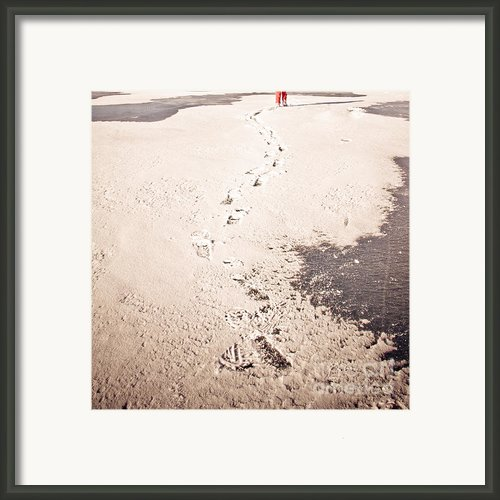 Footprints In The Snow Framed Print By Christina Klausen