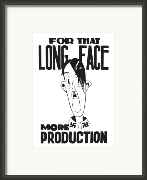 For That Long Face More Production Framed Print By War Is Hell Store