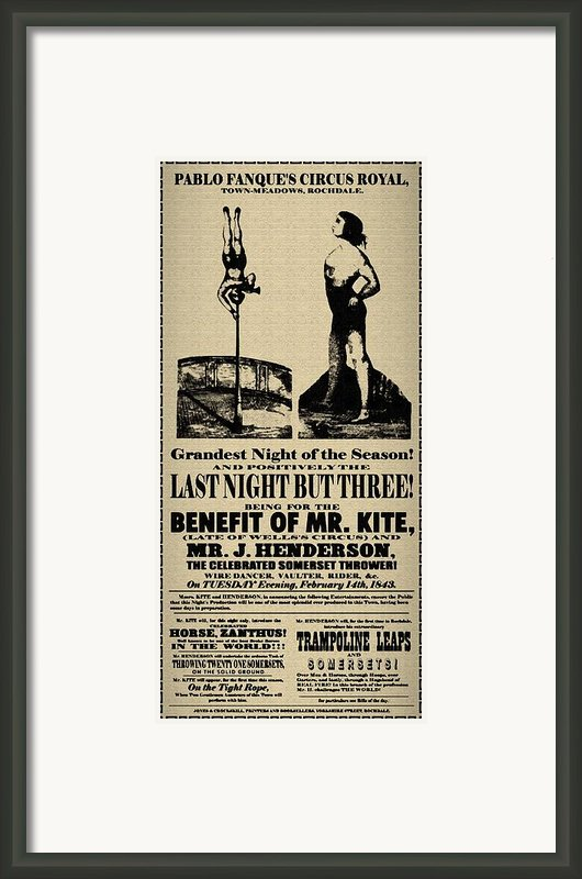 For The Benefit Of Mr Kite Framed Print By Bill Cannon