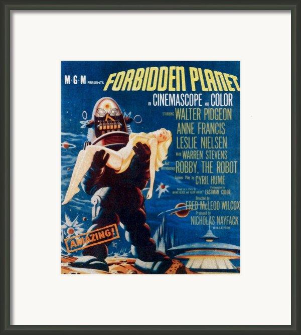 Forbidden Planet, Left Robby The Robot Framed Print By Everett