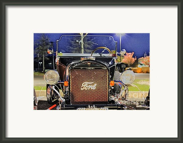 Ford Black Hot Rod Old School Framed Print By Pictures Hdr