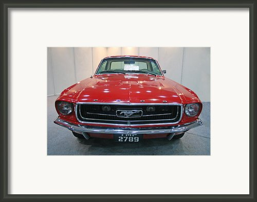 Ford Mustang 1967 Car Framed Print By Sudarshan Vijayaraghavan