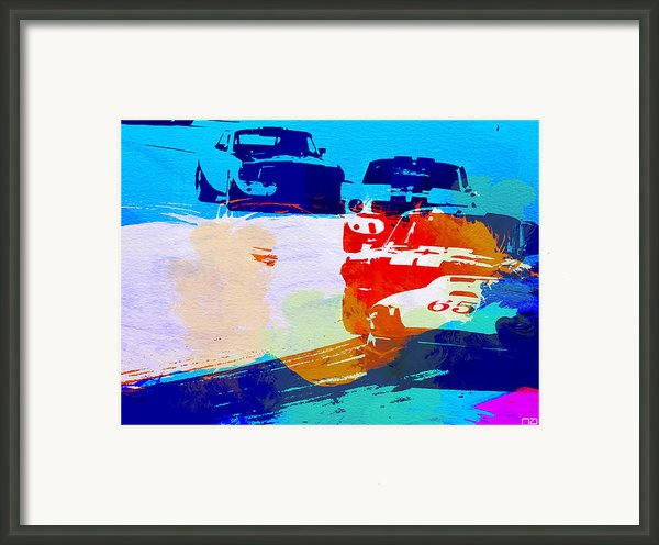 Ford Mustang Watercolor Framed Print By Irina  March