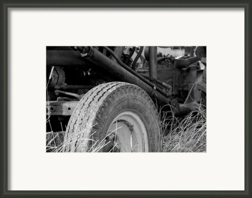 Ford Tractor Details In Black And White Framed Print By Jennifer Lyon
