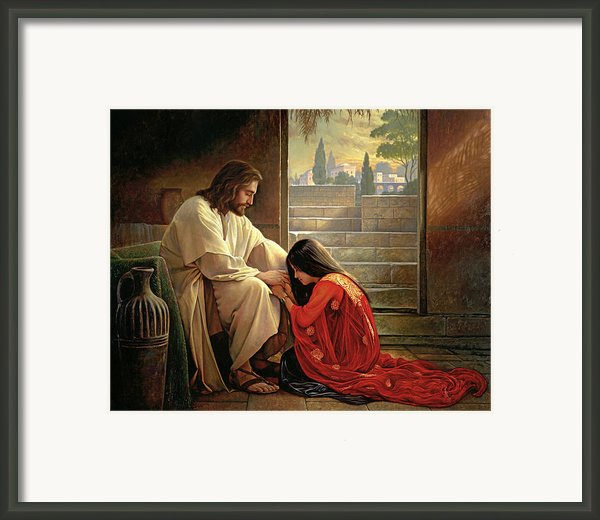 Forgiven Framed Print By Greg Olsen