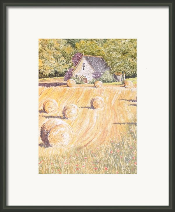 Forgotten Chapel Framed Print By Frances Evans