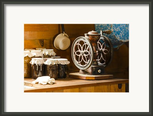 Forgotten Kitchen Of Yesteryear Framed Print By Carolyn Marshall