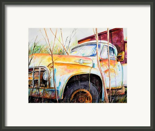 Forgotten Truck Framed Print By Scott Nelson