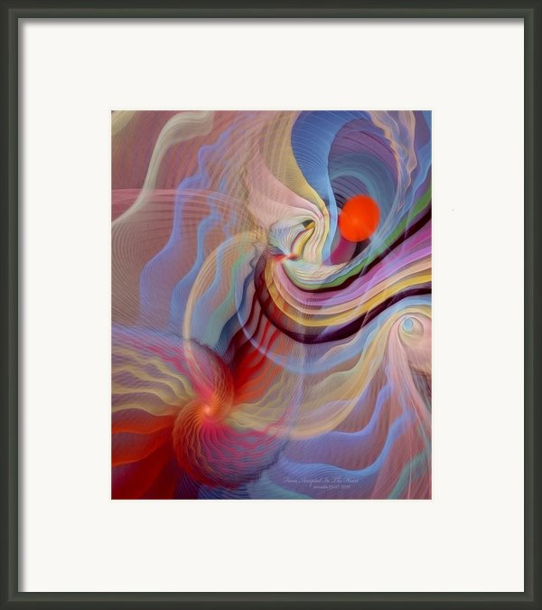 Form Accepted In The Heart Framed Print By Gayle Odsather