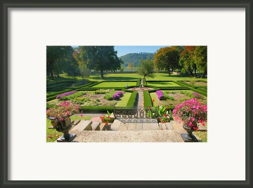 Formal Garden I Framed Print By Steven Ainsworth