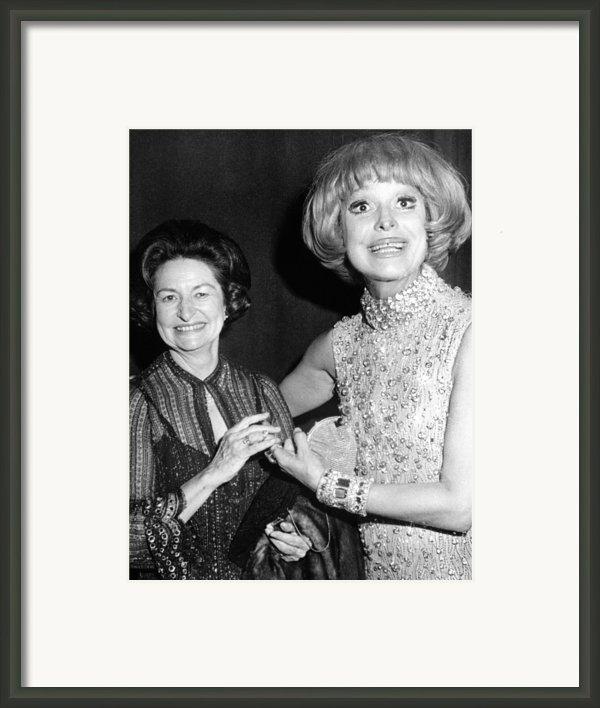 Former First Lady Visits Carol Channing Framed Print By Everett