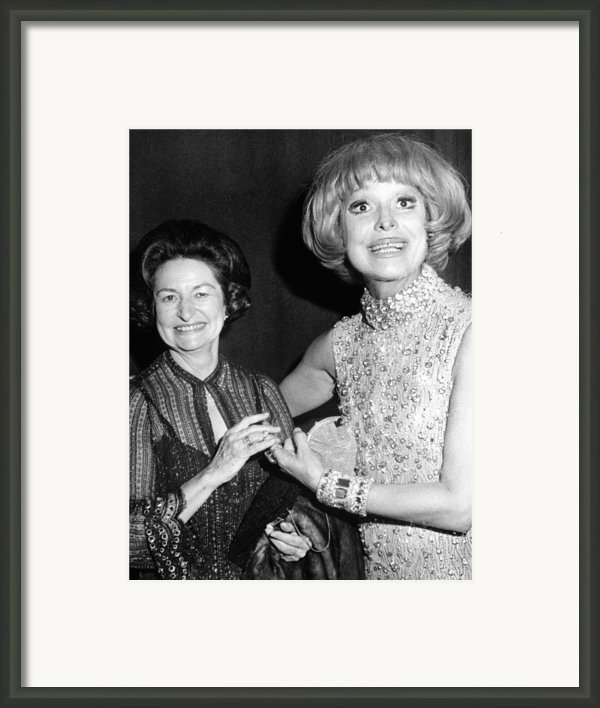 Former First Lady Visits Carol Channing Framed Print By Everett