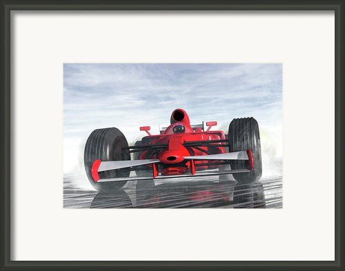 Formula One Racer Framed Print By Carol And Mike Werner
