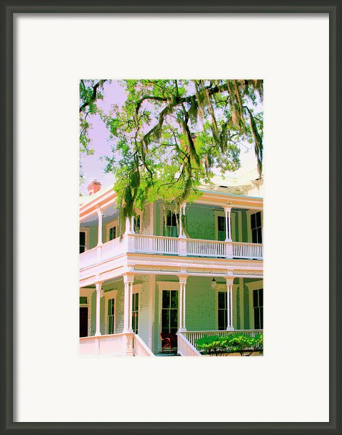 Forsyth Porch Framed Print By William Dey