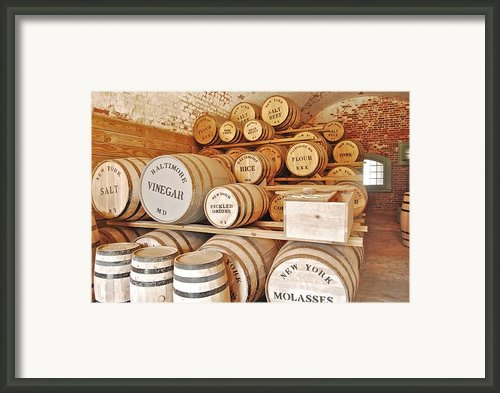 Fort Macon Food Supplies_9070_3759 Framed Print By Michael Peychich
