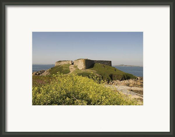Fort Pezeries - Plainmont - Isle Of Guernsey. Framed Print By Urft Valley Art