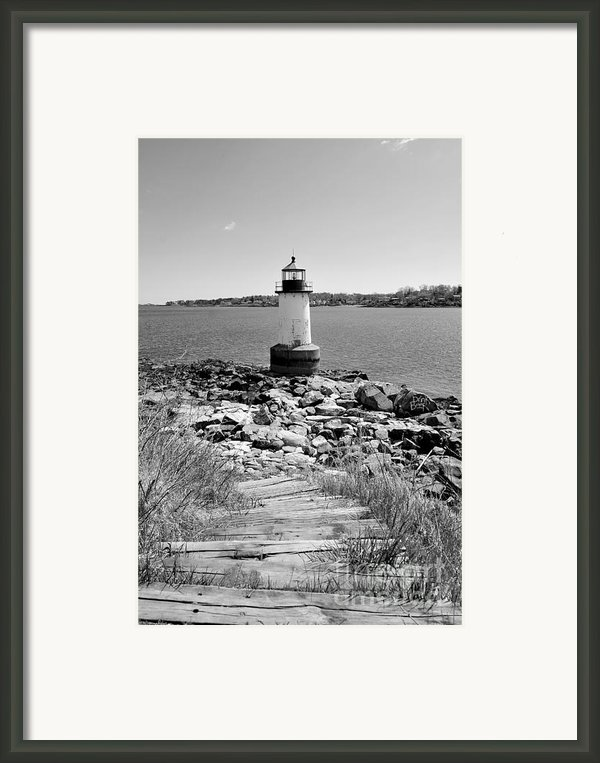 Fort Pickering Light Framed Print By Catherine Reusch  Daley