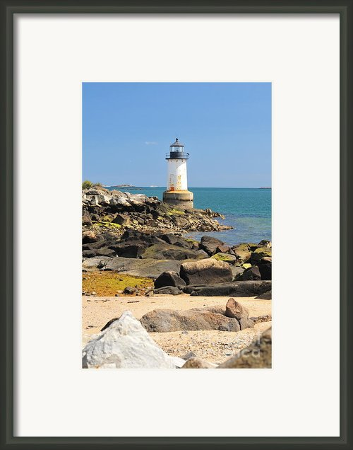 Fort Pickering Lighthouse Framed Print By Catherine Reusch  Daley